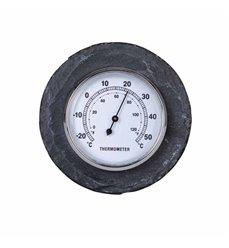 Termometer i skifer Ø10cm LS226