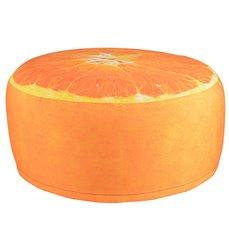 Outdoor pouffe orange
