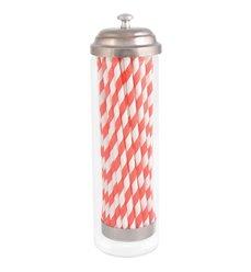 Straw dispenser with paper straws