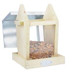 Bird hopper feeder seeds