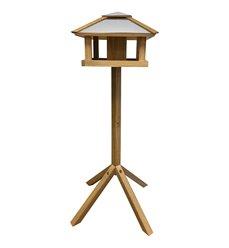 Bird table oak square with silo