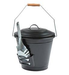 Ash bucket with shovel