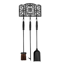 Fire place tools black