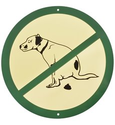 Sign no fouling