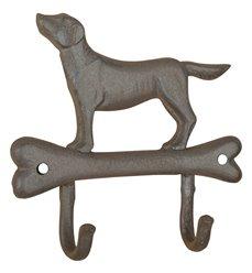 Dog on bone hook