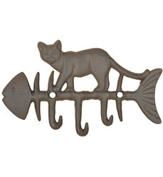 Cat on fish hook