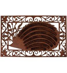 Doormat cast iron hedgehog