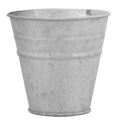 Old zinc flowerpot 12 cm