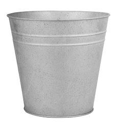 Old zinc flowerpot 14 cm
