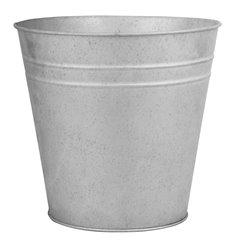 Old zinc flowerpot 25 cm