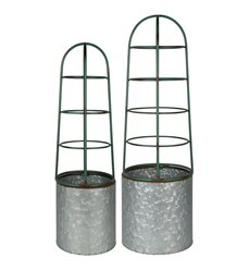 Flower pot with support set/2