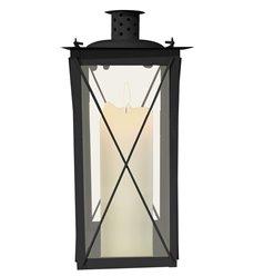 Lanterne med kryss svart 111559