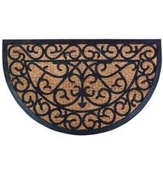 Rubber doormat/coir halfround