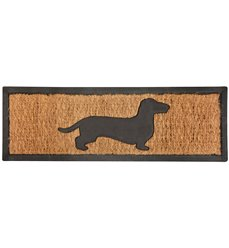 Rubber doormat/coir dachshund