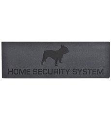 """""""Home security"""" relief doormat"""