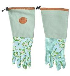 Rose print/jute garden glove long
