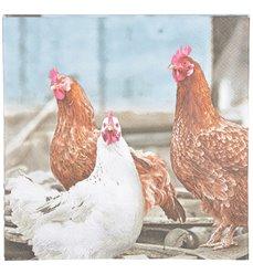 Paper Napkins chicken 33x33cm