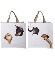 Shopping bag cat/dog break through