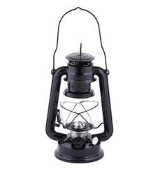 Hurricane lamp oil lantern black