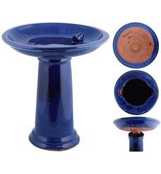 Fuglebad Ø42cm keramikk, blåemaljert FB422